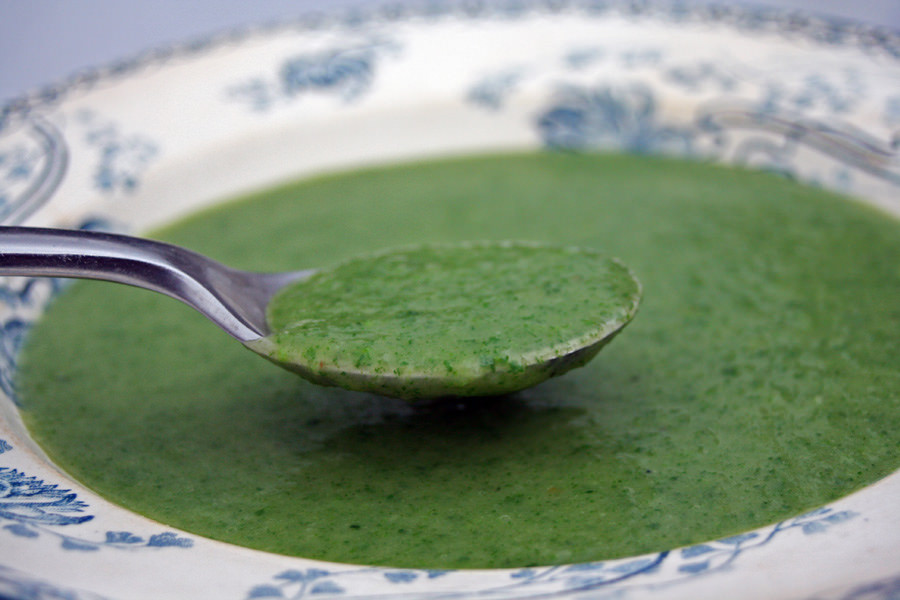 Veloute aux Sorties  (Cream of Nettle Soup)