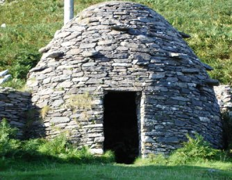 Bronze Age Irish Beehive 'stone hut' or Clochán,