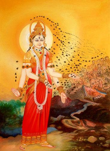 The Indian Bee goddess, Bhramari Devi