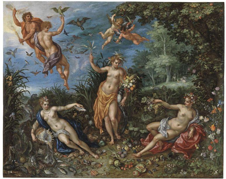 jan_brueghel_the_elder_and_hendrick_de_clerck_-_abundance_and_the_four_elements_1606