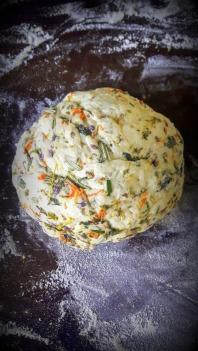 Pretty herby dough